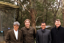 US Ambassador John Berry visited the PRIAM Psittaculture Centre in Australia
