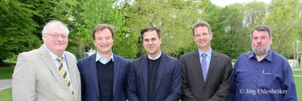 5 Referenten mit AZ Präsidenten